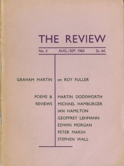 The Review, no. 3, edited by Ian Hamilton
