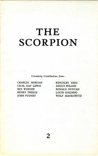 Scorpion, edited by Ian Hamilton